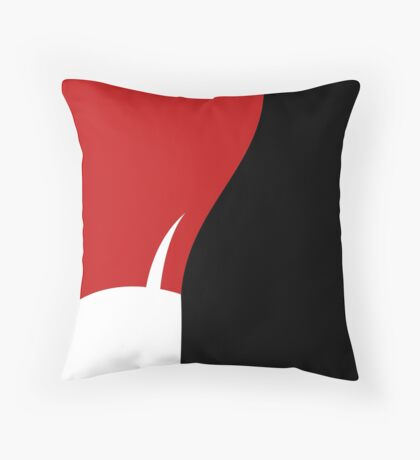 The Red Lady - Bottom Throw Pillow
