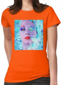 Swimming into the Blue Womens Fitted T-Shirt