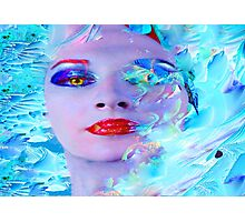 Swimming into the Blue Photographic Print