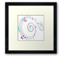 Music Notes Swirl Design Framed Print