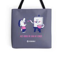 Mis obras me dan de comer - Grey&Pink 01 Tote Bag