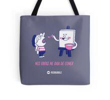 Mis obras me dan de comer - Grey&Pink 02 Tote Bag
