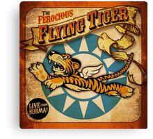 """""""FLYING TIGER"""" VINTAGE  Canvas Print"""