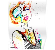 Wildago's Watercolour Pearl with India Ink Poster