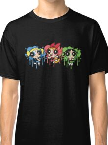 The PowerPuff Girls Paint Splatter Design Classic T-Shirt