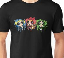 The PowerPuff Girls Paint Splatter Design Unisex T-Shirt
