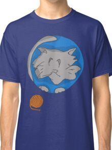 Cat planet with Yarn moon Classic T-Shirt