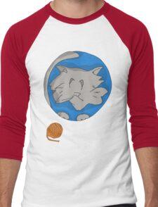 Cat planet with Yarn moon Men's Baseball ¾ T-Shirt