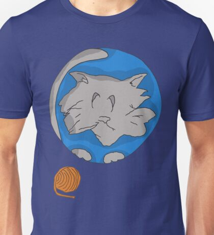 Cat planet with Yarn moon Unisex T-Shirt