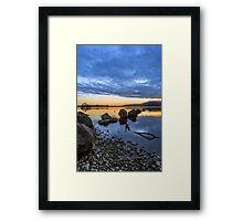 Milarrochy Bay Rocks Framed Print
