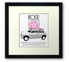 Classic 1989 Mini Rose  Framed Print
