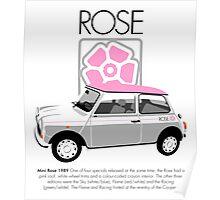 Classic 1989 Mini Rose  Poster