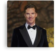 Benedict Cumberbatch - Oil Paint Art (Square) Canvas Print