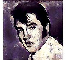 Vintage Style Elvis Presley Photographic Print