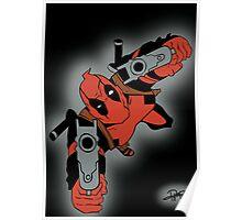 Deadpool Falling  Poster
