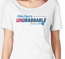 This One's Ungrabbable: Anti Trump Women's Relaxed Fit T-Shirt
