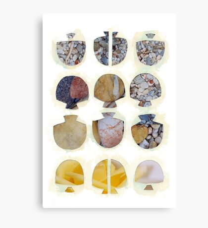 Multifaceted No.4, Stones and Roses (Light, Time & Facade Series) Canvas Print