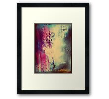 Grunge Rock N Roll Abstract Paint Texture Framed Print