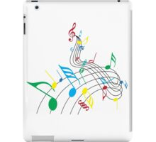 Colorful Music Notes on a Swirl Design iPad Case/Skin