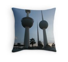 kuwait Towers Throw Pillow