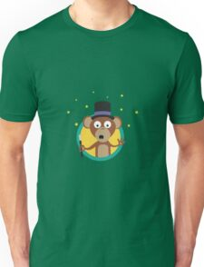 Monkey wizard with stars Unisex T-Shirt
