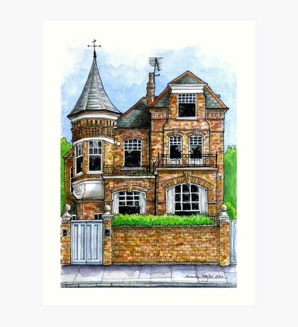 The Turret, Fulham Park Road, SW6 Art Print