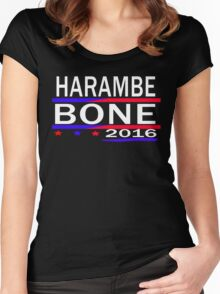 HARAMBE AND KEN BONE 2016 Women's Fitted Scoop T-Shirt