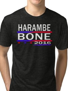 HARAMBE AND KEN BONE 2016 Tri-blend T-Shirt