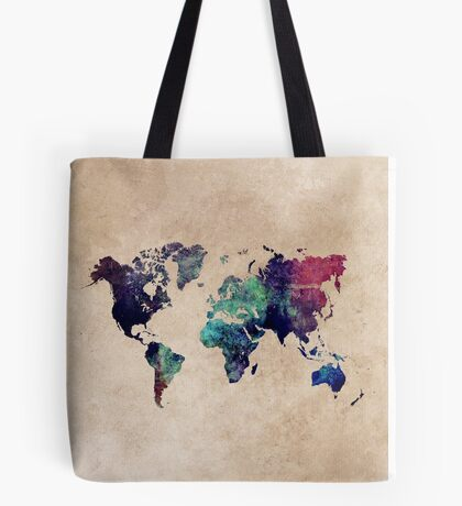 World Map cold World Tote Bag