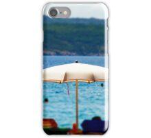 Tilt-shift beach view in warm weather on sea resort, Croatia iPhone Case/Skin