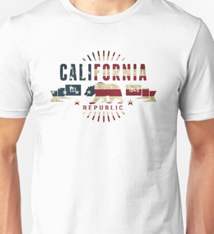 California Stars and Stripes Unisex T-Shirt