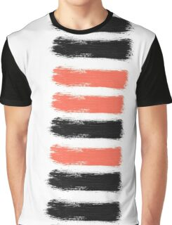 Artsy Paint Brush Stroke Design Graphic T-Shirt