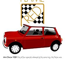 Classic 1989 Mini Flame  by car2oonz