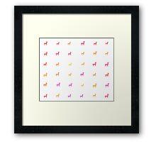 Colored Llamas | Cute Animal Designs  Framed Print