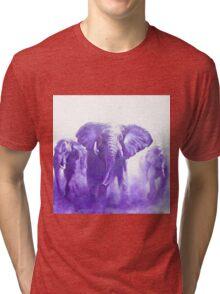 elephants running Tri-blend T-Shirt
