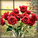Roses in the Window by AuntDot