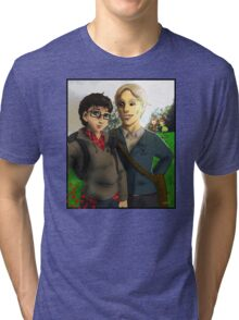 Chibi Hannibal - High School AU Tri-blend T-Shirt