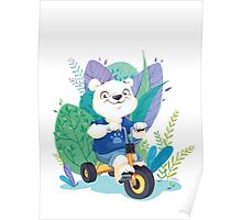 Ourson Tricycle Poster