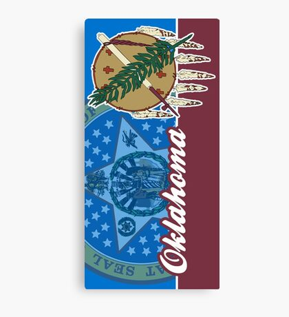 Oklahoma State Flag Seal Canvas Print