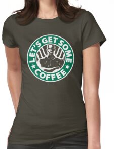 Cage doesn't like coffee. Womens Fitted T-Shirt