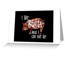 Pig Butts! Greeting Card