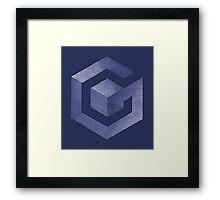 °GEEK° GameCube Denim Framed Print
