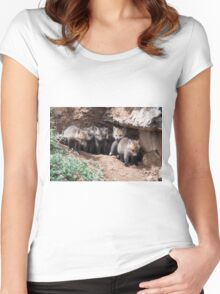 Wow, it's a big world! Women's Fitted Scoop T-Shirt