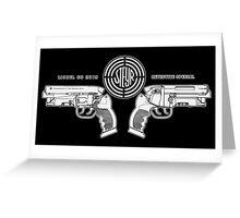 Blade Runner police blaster Greeting Card