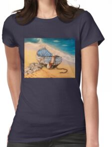 Salty, Whitby harbour Womens Fitted T-Shirt