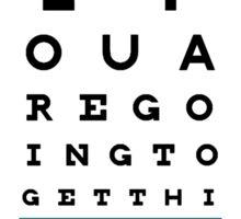 Hug Eye Chart (Clear back) Sticker
