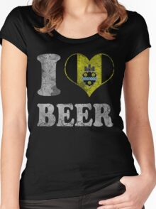 I Heart Pittsburgh Beer Women's Fitted Scoop T-Shirt