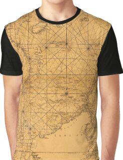 Map of South China Sea 1794 Graphic T-Shirt