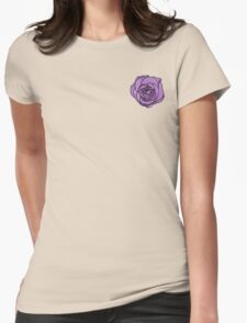 Lavender Rose [Small] Womens Fitted T-Shirt