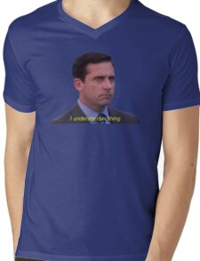 I Understand Nothing - Michael Scott Mens V-Neck T-Shirt
